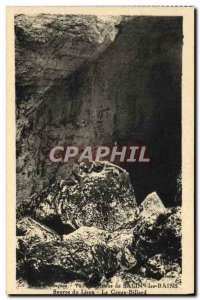 Old Postcard From Around Salins Les Bains Source Du Lison The hollow Pool