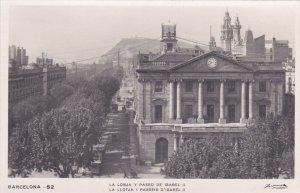 RP: BARCELONA , Spain, 1929 ; La Lonja y Paseo De Isabel II