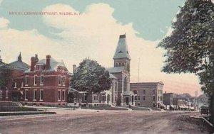 New York Malone Main Street Looking Northeast 1916