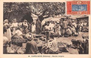 Dahomey Benin Porto-Novo Marche indigene, indigenous market commerce 1934