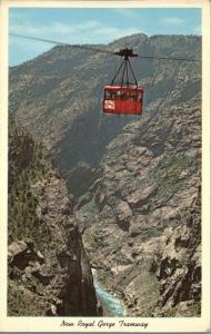 Aerial Tramway over Royal Gorge CO Colorado 1200 feet above the Arkansas River