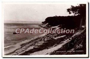 Old Postcard Arcachon Plage Des Abatilles