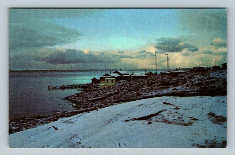 Nouveau Quebec-Canada, Eskimo Art Center, Snowy Views, Chrome Postcard