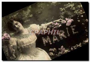 Old Postcard Marie Surname