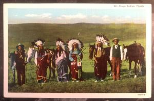 Mint USA PPC Picture Postcard Native American Sioux Indian Chiefs