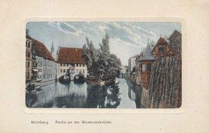 Germany Postcard - Nurnberg - Partie an der Museumsbrucks  2672