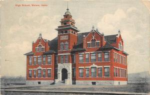 F27/ Weiser Idaho Postcard 1908 High School Building