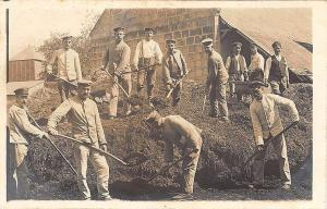 1916 Germany Work Group Gard Korps Feldpost Cancel RPPC Postcard