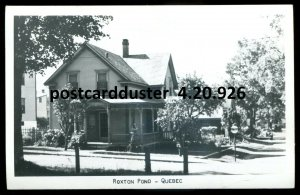 926 - ROXTON POND Quebec 1940s Street View. Real Photo Postcard
