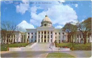 Alabama State Capitol, Montgomery, AL, 1956 Chrome