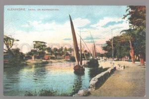 099287 EGYPT Alexandrie le canal Mahmoudieh Vintage PC