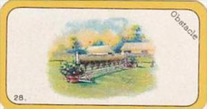 Carreras Cigarette Card Greyhound Racing Game No 28 Obstacle