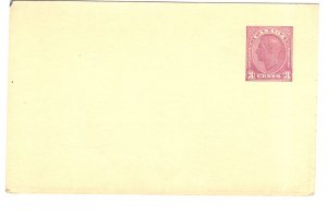 Postal Stationery Canada, George VI 3 Cent Purple, Blank Front