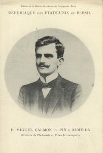 brazil, Minister of Industry Miguel Calmon du Pin e Almeida (1906) Mission