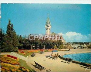 Modern Postcard Limoges (Haute Vienne) railway station and gardens