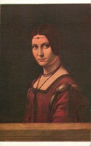 LEONARDO DE VINCI PORTRAIT OF LUCRETIA CRIVELLI ART POSTCARD