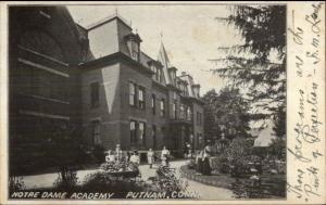 Putnam CT Notre Dame Academy c1905 Postcard