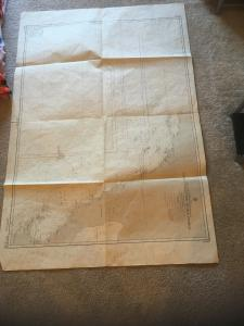 Vintage Nautical Map Chart: HO 5760 Point Conception to Isla Cedros 1st ed 3/42