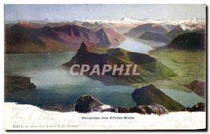 Old Postcard Panorama von Pilatus Kulm