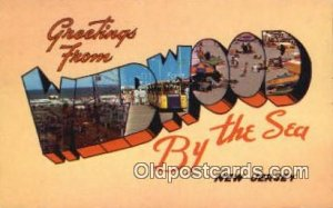 Wildwood by the Sea, New Jersey USA Large Letter Town Vintage Postcard Old Po...