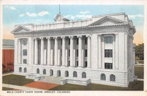 Colorado Co Postcard c1910 GREELEY Weld County Court House Building