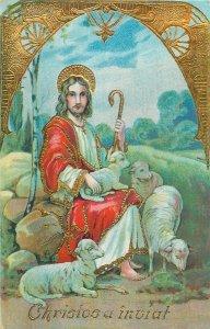 Romania Easter greetings novelty postcard Christ is risen greetings