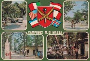 Campings Marina di Massa Italy 1980s Postcard