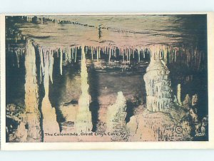 Linen GREAT ONYX CAVE Mammoth Cave National Park - Cave City Kentucky KY AD4053