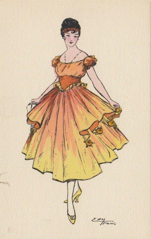 ART DECO ; EDY (Paris) ; Female Fashion portrait #1, 1910-30s