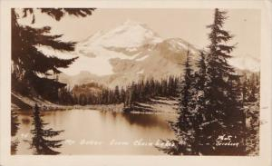 Washington Seattle Mount Baker From Chain Of Lakes Real Photo