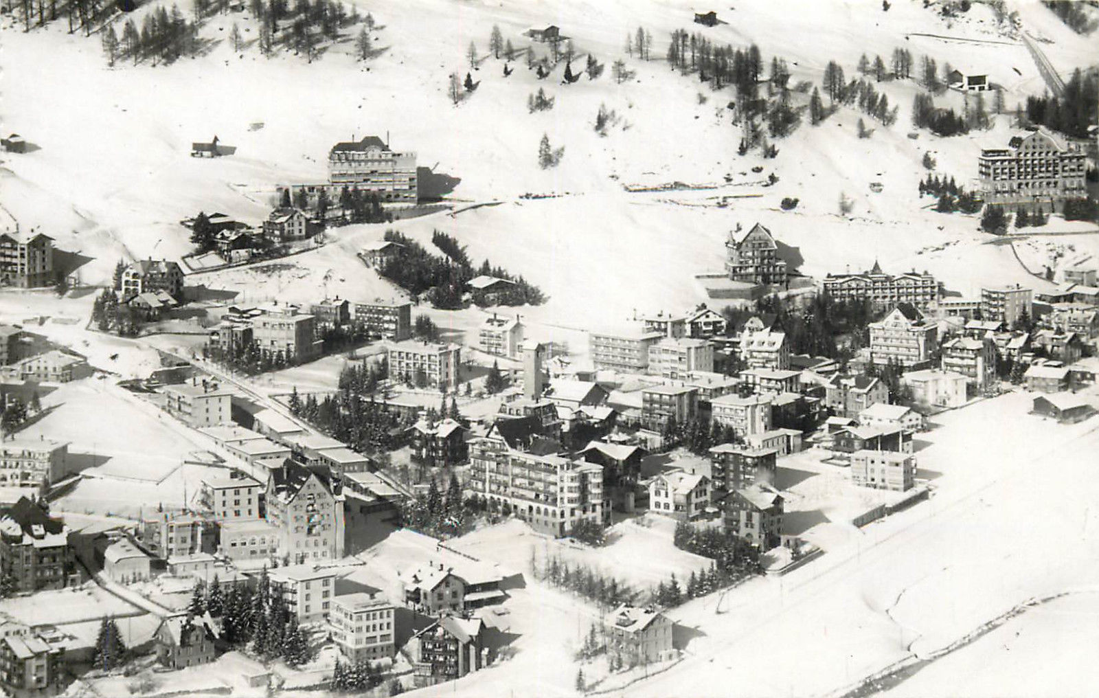 Switzerland Davos Dorf mit Englisch Viertel / HipPostcard