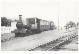Fenella Train St Johns Station Ramsey Isle Of Man Foxdale Bridge Postcard
