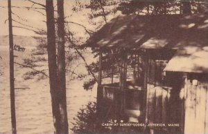 Maine Jefferson Cabin At Sunset Lodge Artvue
