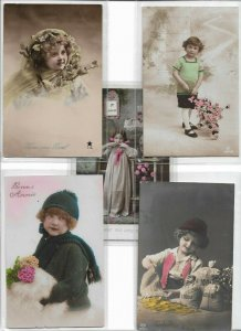 Jugendstil - Cute Kids Theme RPPC Postcard Lot of 10 01.11