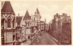 Vintage Postcard Law Courts, Fleet Street, London by Valentine & Sons Ltd #L