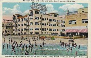 California Long Beach Mariner Apts And Hotel And West Beach Apts And Annex