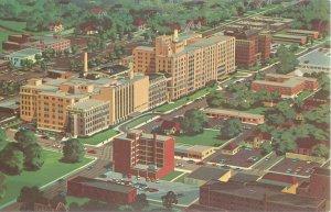 Indianapolis IN Methodist Hospital Aerial View Vintage Postcard