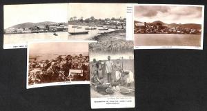 Sierra Leone Africa lot 5 vintage postcards