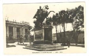 RP, Monumento A Simon Bolivar, Lima, Peru, 1920-1940s