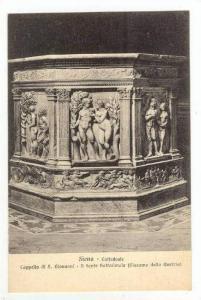 Siena, Tuscany, central Italy.  00-10s Cattedrale, cappella di S. Giovanni