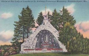 Maine Kennebunkport Shrine Of Our Lady Of Lourdes At St Anthony Franciscan Mo...