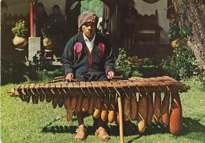 Native Indian Playing Typical Marimba Instrument