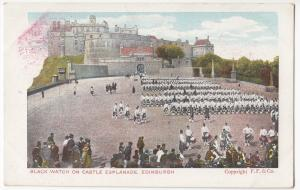 Edinburgh; The Black Watch On The Castle Parade PPC By DG & GD, Unposted
