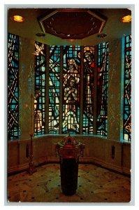 Vintage 1960's Postcard Baptistry New Church of St. Stephen Martyr Washington DC
