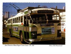 Trolley, San Francisco Muni Fageol Twin Stockton Coach, California