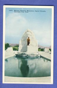 Salt Lake City, Utah/UT Postcard, Mormon Battalion Monument