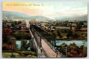 Reading Pennsylvania~Lost (c1913*) Whipple Thru-Truss~Penn Ave Wagon Bridge 1908