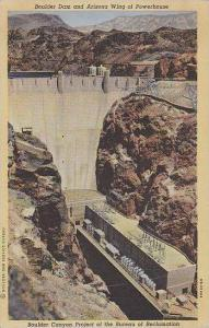 Nevada Boulder Dam Boulder Dam And Arizona Wing Of Powerhouse