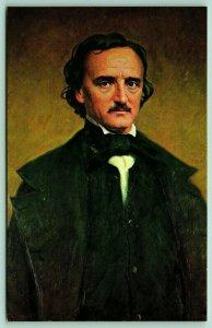 Famous People~Edgar Allen Poe Portrait~1849 Poetry Fort Monroe VA~1960s Postcard
