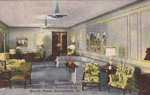 Pennsylvania Elizabethtown Lounge Interior Nurses' Memorial Home Masonic Home...